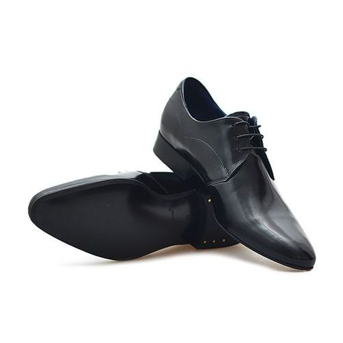 Pantofle Conhpol C00C-4755-Z963 Czarne lico polerowane, kolor czarny
