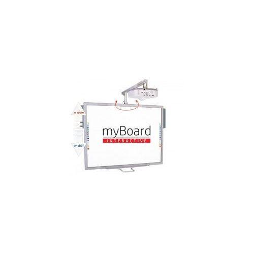 """Myboard Zestaw! tablica silver 70""""c + canon lv-x310st + uchwyt ścienny z reg. wysokości i wysięgnikiem uvis-rw100~70"""" + okablowanie 10 m (230v, hdmi) + głośniki amp-32"""