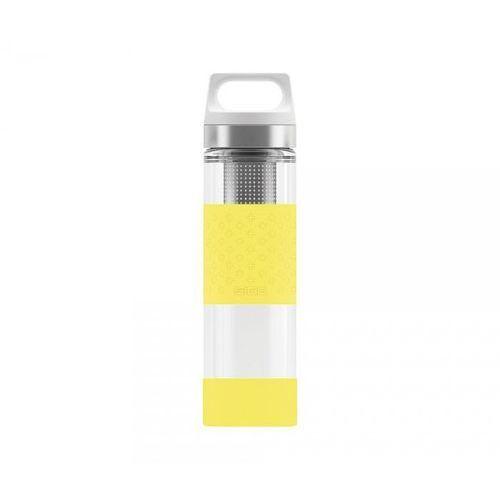 Termos szklany SIGG WMB z zaparzaczem HOT & COLD Glass 400 ml (Lemon)