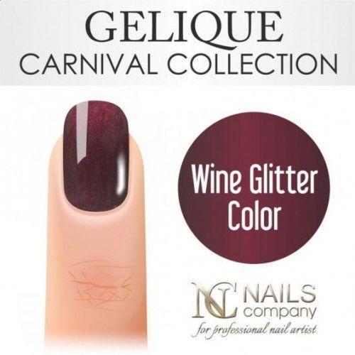 Nc nails company Nails company gelique wine glitter color 6ml - żel hybrydowy