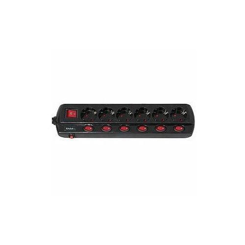 Ibiza sound przedłużacz listwa przełącznikowa lc606 6x on/off ibiza