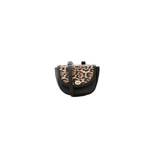 Torebka na ramię w cętki leoparda czarno-jasnobrązowo-ciemnobrązowy marki Bonprix