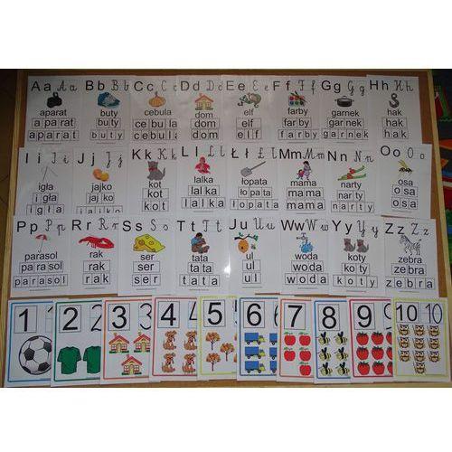 Podstawowy zestaw nauczyciela nr 3 - alfabet i cyfry edukacyjne marki Bystra sowa