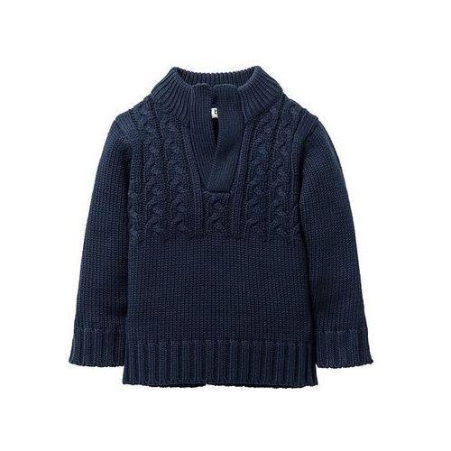 Bonprix Sweter dzianinowy  ciemnoniebieski