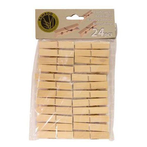 Klamerki Drewniane Bambusowe 24szt