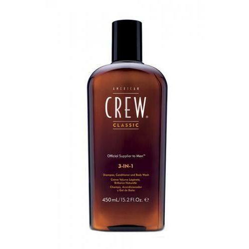 American Crew 3-IN-1 Shampoo, Conditioner & Body Wash szampon do włosów 450 ml dla mężczyzn