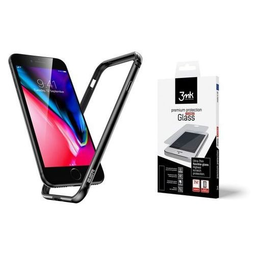 Zestaw | etui crown gray + folia 3mk flexible - iphone 7 / 8 marki Esr