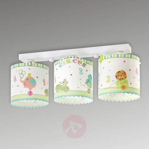 Dalber 62623 -Lampa sufitowa dziecięca CIRCUS 3xE27/60W/230V