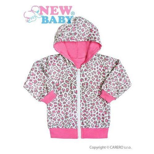 Bluza z kapturem dla niemowląt New Baby Lampart różowa