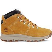 Buty world hiker mid wheat - męskie zimowe - żółty/pomarańczowy, Timberland