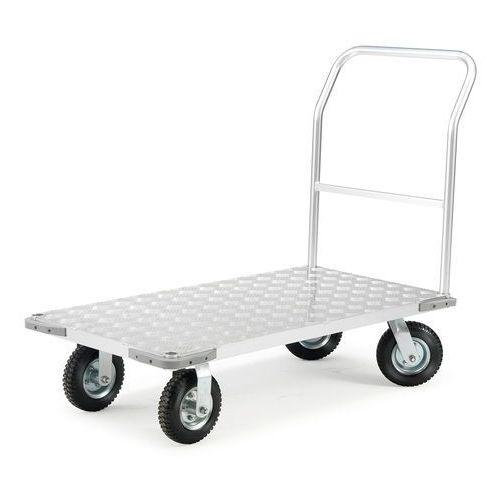 Aluminiowy wózek platformowy, obciążenie 300 kg, 610x1260 mm marki Aj produkty