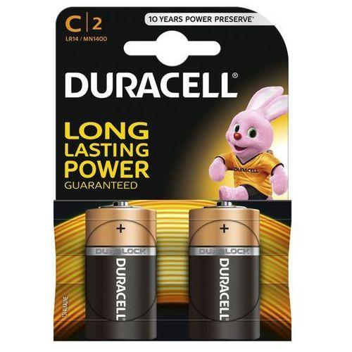 Duracell 2 x bateria alkaliczna  lr14 c (blister) (5000394076761)