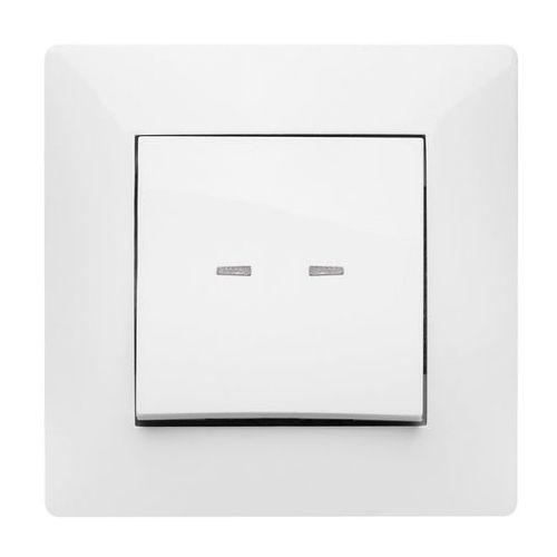Łącznik pojedynczy Elektro-Plast Volante z podświetleniem biały (5902012984512)
