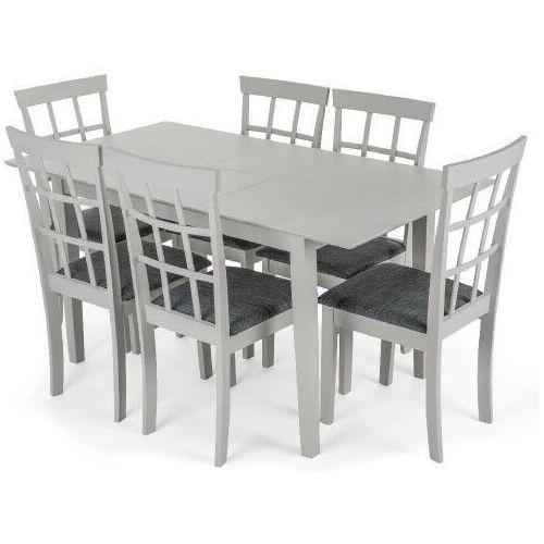 Meblemwm Stół rozkładany miami + 6 krzeseł helena pebble (9999001208366)