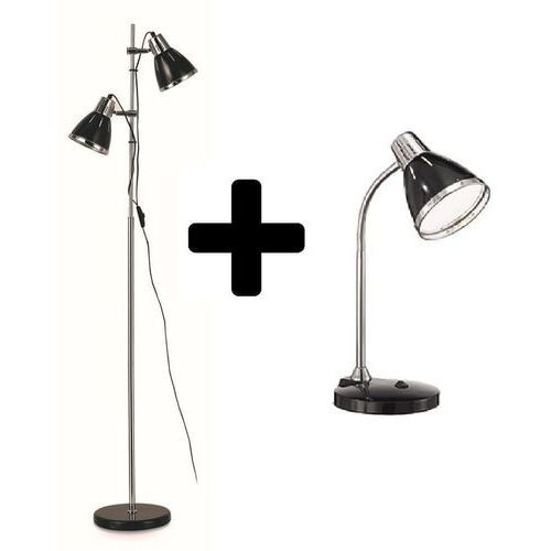 Ideal lux lampa stojąca elvis black + lampka stołowa (2000012761959)