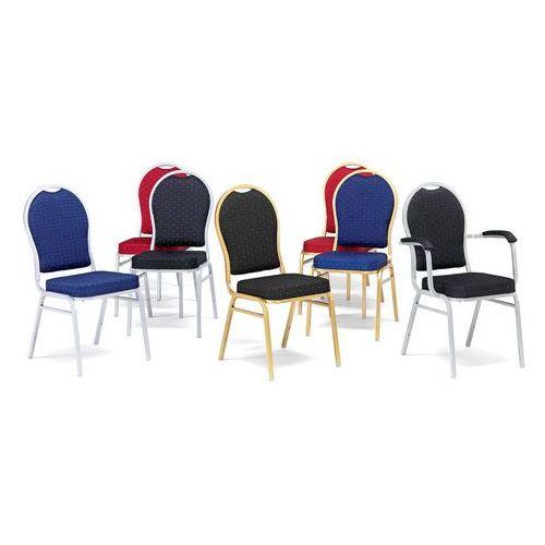 Krzesło bankietowe seattle, czerwony, srebrny marki Aj produkty