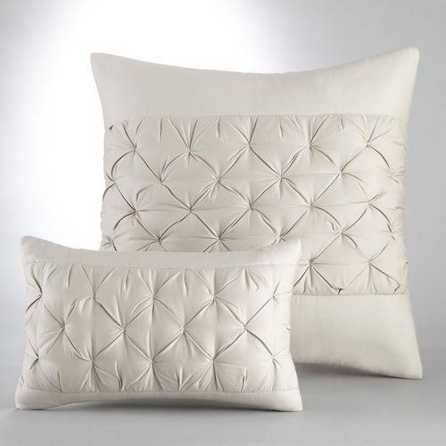 Poszewka na poduszkę lub jasiek, z pikowaniem w stylu origami, z satyny bawełnianej, Khin