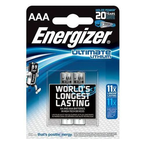 Energizer Bateria ultimate lithium, aaa, l92, 1,5v, 2szt. (7638900262629)