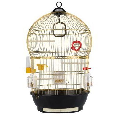 Ferplast bali mosiądz klatka okrągła dla kanarka, papużki z wyposażeniem