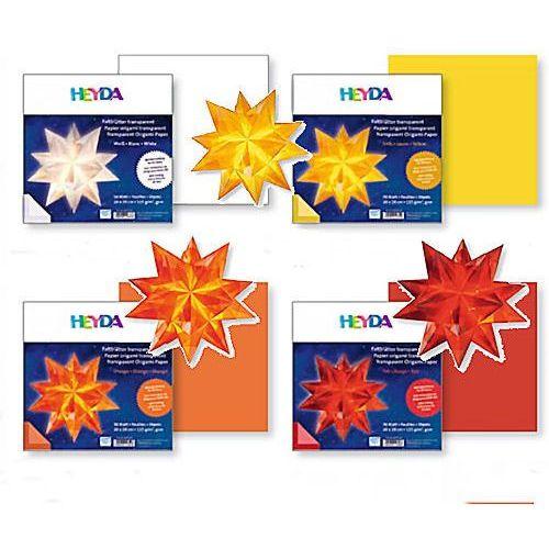 Papier do origami 20x20 Heyda transparentny czerw