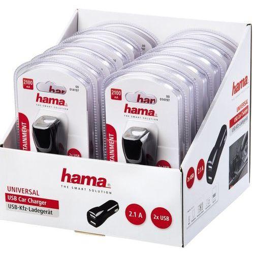 Ładowarka Hama 2x USB 2.1A Czarna (000141970000) Darmowy odbiór w 19 miastach!, 000141970000