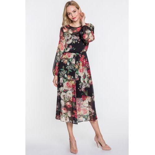 Sukienka midi w kwiaty Finea - Jelonek, 1 rozmiar