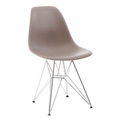 Krzesło P016 PP inspirowane DSR - mild grey, kolor szary