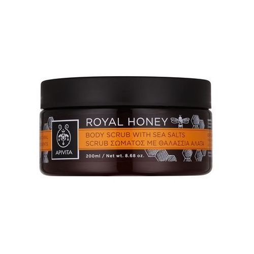royal honey peeling do ciała z solą morską 200 ml, marki Apivita