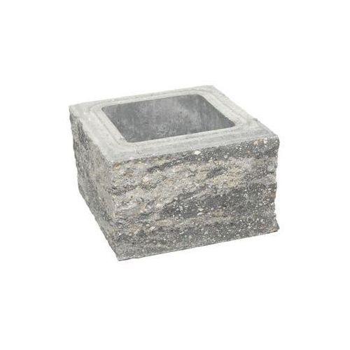 Pustak słupkowy 30 x 30 x 19 cm betonowy czterostronnie łupany skała lubuska marki Ziel-bruk