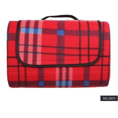 SELSEY Koc piknikowy Inverno 135x175 cm czerwony wodoodporny, kolor czerwony