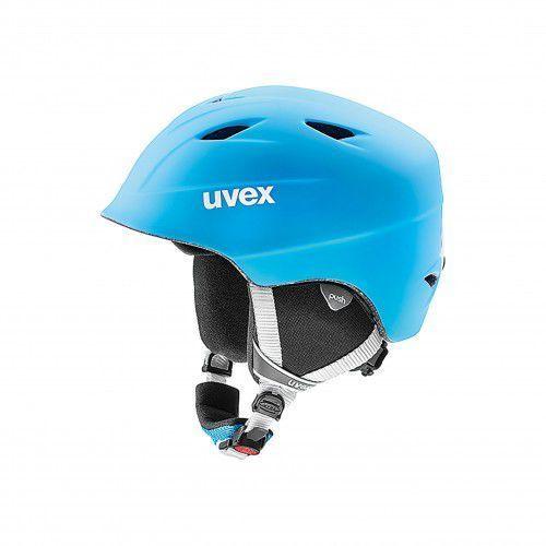 Uvex kask narciarski dziecięcy airwing 2 pro - liteblue-white mat (54-58 cm)