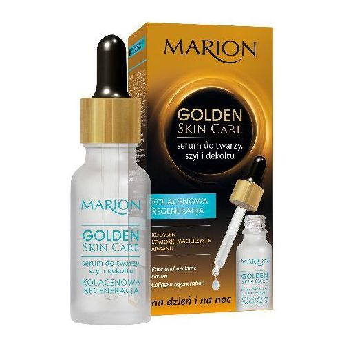 Marion Golden Skin Care Serum Kolagenowa Regeneracja do twarzy ,szyi i dekoltu 20ml - MARION