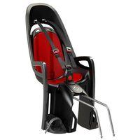 Fotelik rowerowy ZENITH szary, czerwona wyściółka, kolor szary