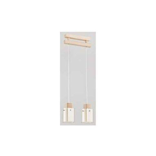 Alfa Anabell 2452201 lampa wisząca zwis 2x40W E14 biały/drewno