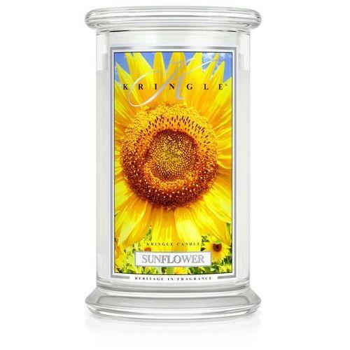 Sunflower świeca zapachowa słonecznik duży słoik 22oz, 623g, 2 knoty marki Kringle candle