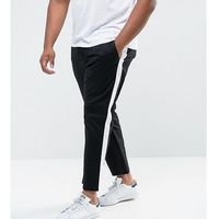 plus slim chinos with side stripe in black - black marki Asos