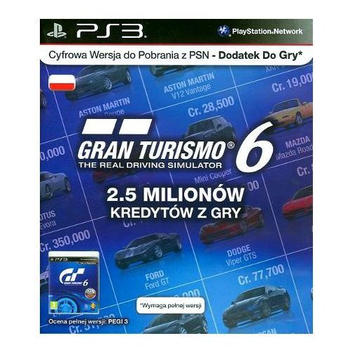 Gra PS3 PS Live Card GT6 IGC (0711719290186)