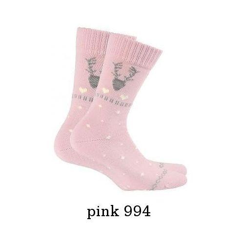 Skarpety w 84.139 damskie uniwersalny, różowy/pink 994. wola, uniwersalny marki Wola