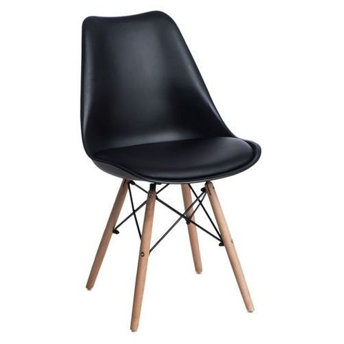 D2.design Krzesło norden dsw pp czarne - czarny (5902385729390)