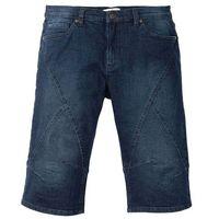 Długie bermudy dżinsowe ze stretchem Regular Fit bonprix ciemnoniebieski