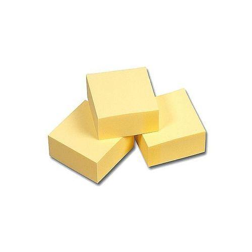 Kostka bloczek samoprzylepny 75x75mm Esselte Contacta żółty 400 kartek 83066