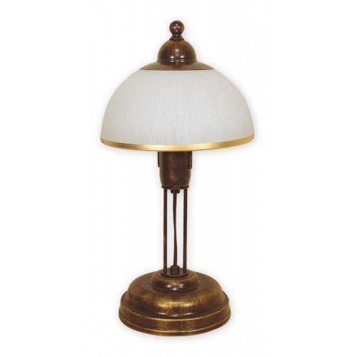 Lemir Flex O1488 BR Lampka stołowa 1x60W E27 brązowa/złota (5907626644234)