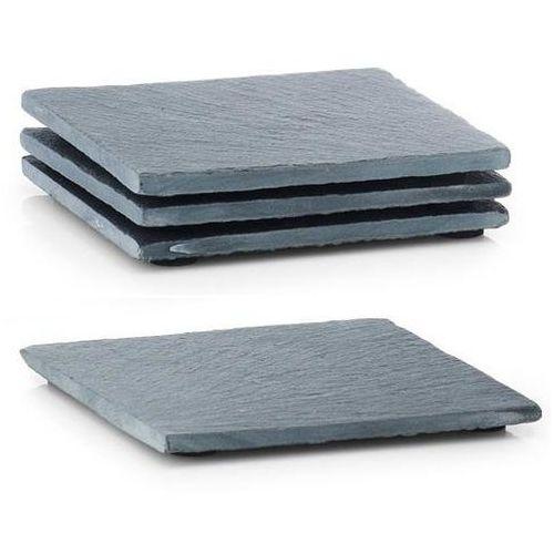 Kamienne podkładki pod kubki, podkładki na stół nowoczesne, eleganckie podkładki na stół, podkładki kwadratowe, dekoracje na stół (4003368245072)