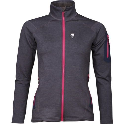 High point bluza damska woolion merino lady sweatshirt antracit/cerise zip m