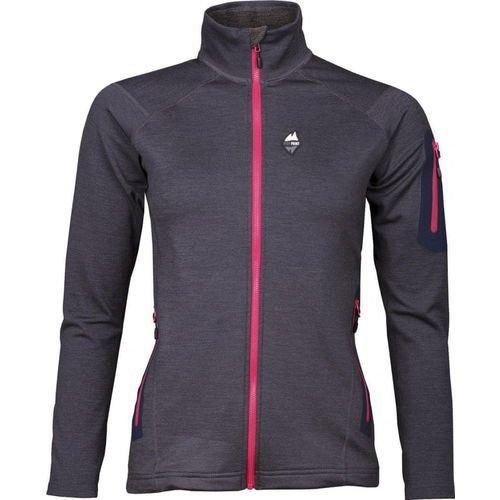 High Point bluza damska Woolion Merino Lady Sweatshirt Antracit/Cerise Zip S (8591788436775)