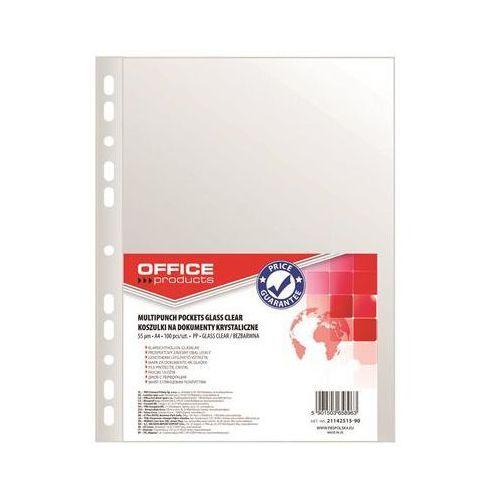 Koszulki na dokumenty OFFICE PRODUCTS, PP, A4, krystal, 55mikr., 100szt. (5901503658963)