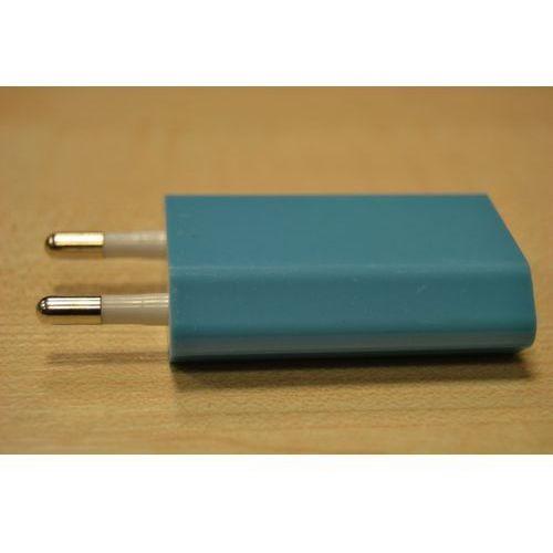 Ładowarka sieciowa USB 1A niebieska (gustaf), ST01-025_nieb