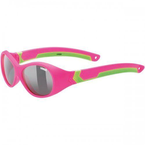 UVEX okulary dziecięce Sportstyle 510 (S3) pink green mat (zielono różowy mat) - z szybą smoke, 53/2/029/3716/UNI