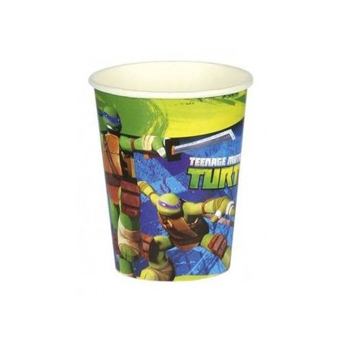 """Kubeczki papierowe """"Żółwie Ninja"""", AMSCAN, 266 ml, 8 szt"""
