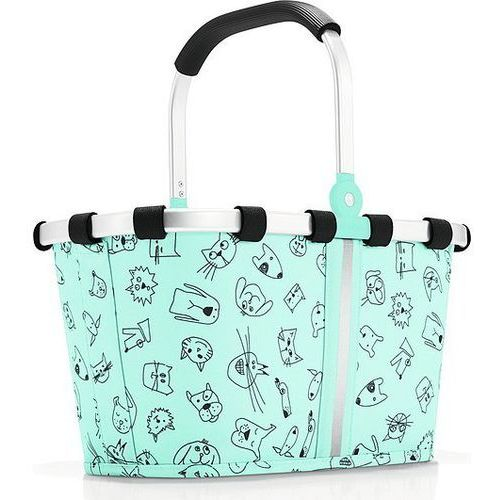 Koszyk carrybag xs turquoise cats and dogs miętowy marki Reisenthel